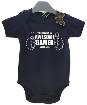 Awesome Gamer Gift Baby Grow Boy Girl Unisex Present Computer Geek Play Suit