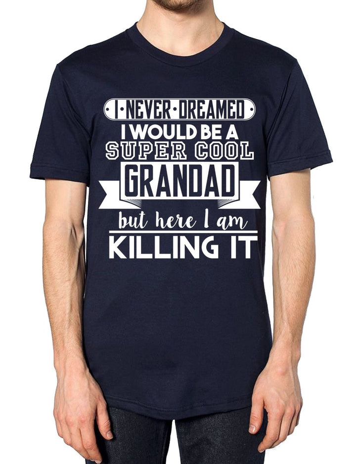 Super Cool Grandad T Shirt Top Fathers Day Funny Best Gift Present Grandchildren