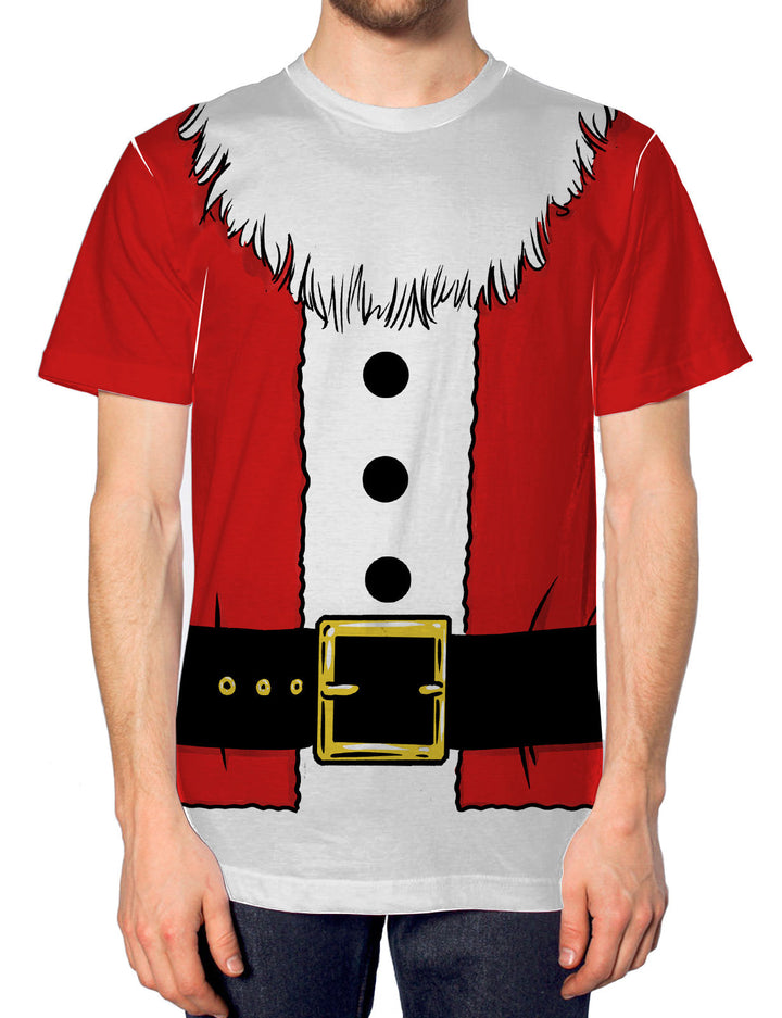 Santa Costume All Over Print TShirt Christmas Dress Up Men Women Father Kid JC24