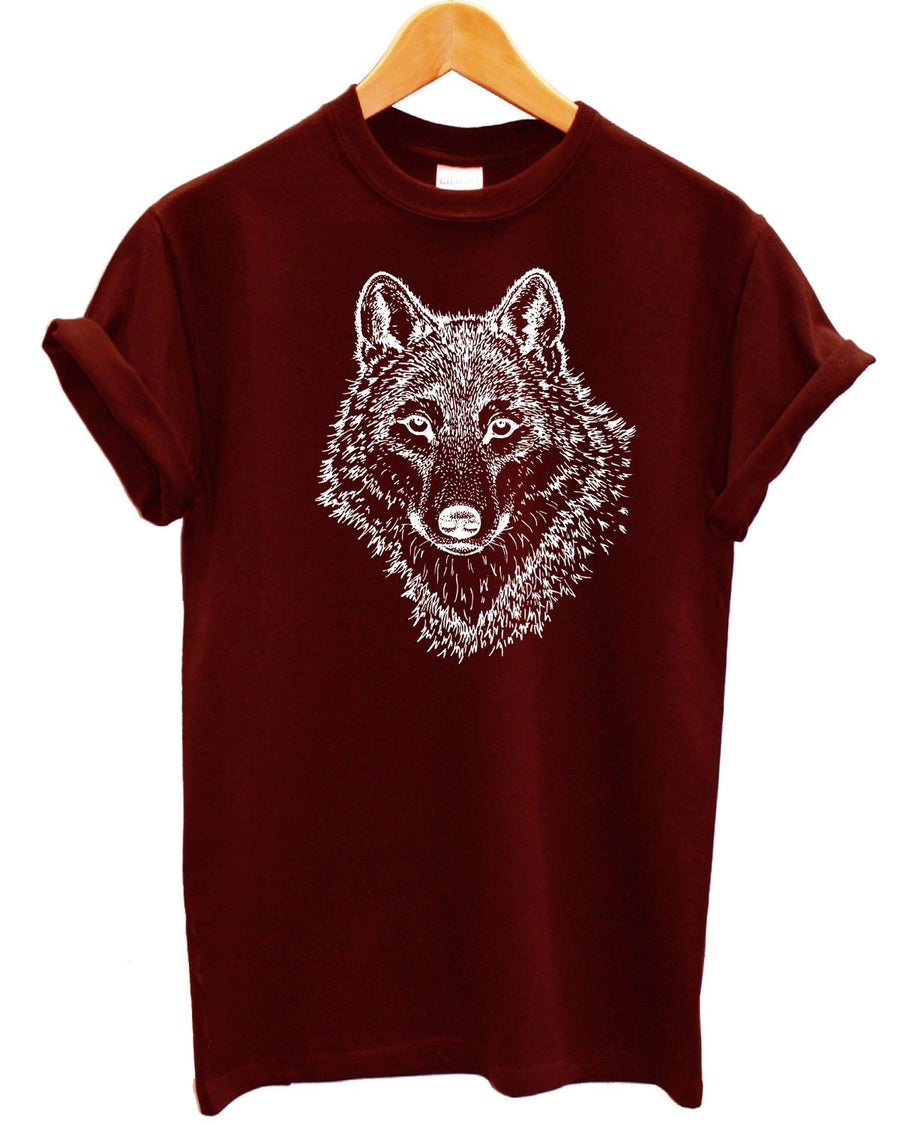 Wolf T Shirt Printed Fashion Full Moon Hipster Fashion Mens Womens Kids Animal