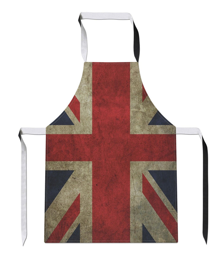 Vintage Union Jack Country Flag Luxury Novelty APRON Kitchen Tabard Linen Gift