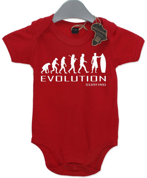 Evolution Surfing Babygrow Playsuit Babies Unisex Surfer Wave Baby