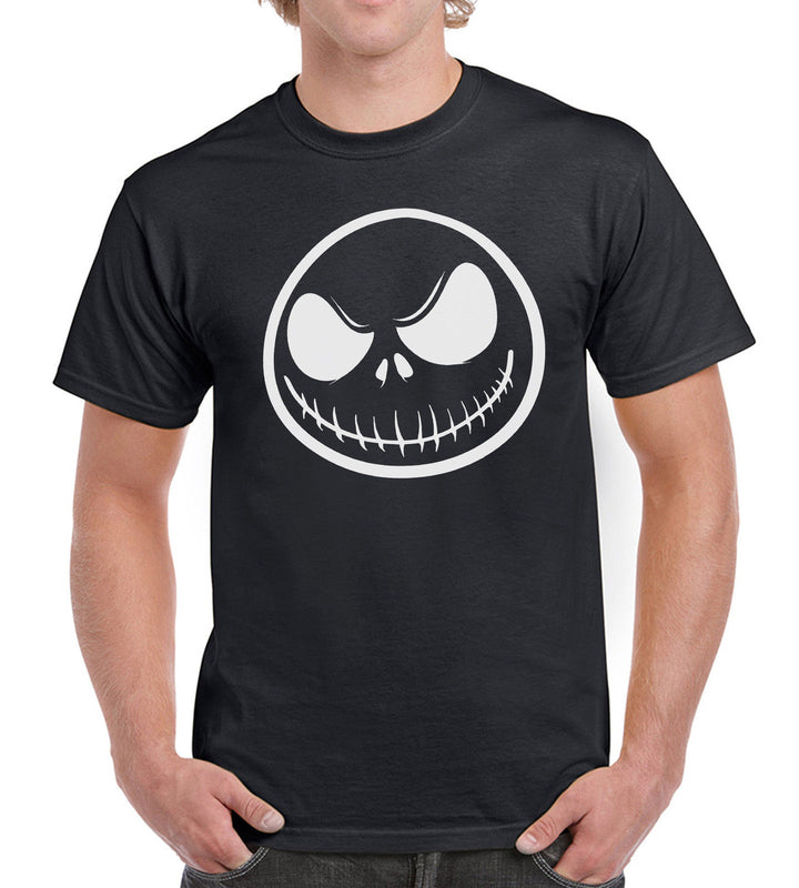 Jack Skellington Halloween Mens Womens Tshirt Horror Nightmare Christmas Outfit, Main Colour Black