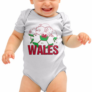 Wales Football Shirt Baby Grow Cymru Bale Top Romper Suit Babygrow Gift B40