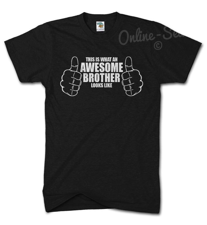 This Is What An Awesome Brother Looks Like T Shirt Mens Womens Kids Top Present, Main Colour Black