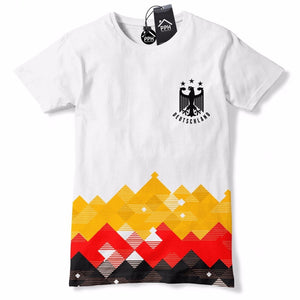Germany Football Shirt Retro Pattern Deutschland T Shirt World Cup Vintage 582