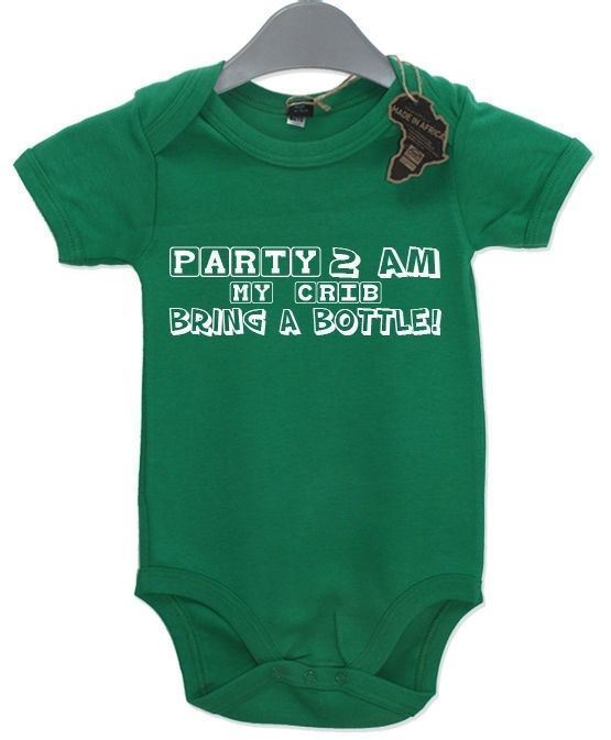 Party 2am My House Bring A Bottle Baby Grow BabyGrow Playsuit Boy Girl Newborn