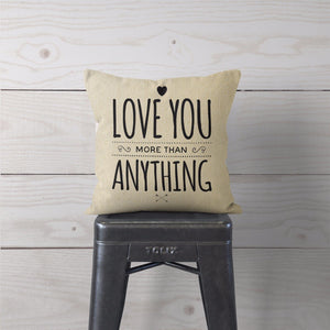 Love You Canvas Cushion Cover Cute Home Decor Valentines Day Gift Girlfriend ST4