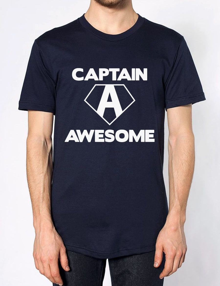 Captain Awesome Funny Mens America Tshirt Womens Top T Shirt Novelty