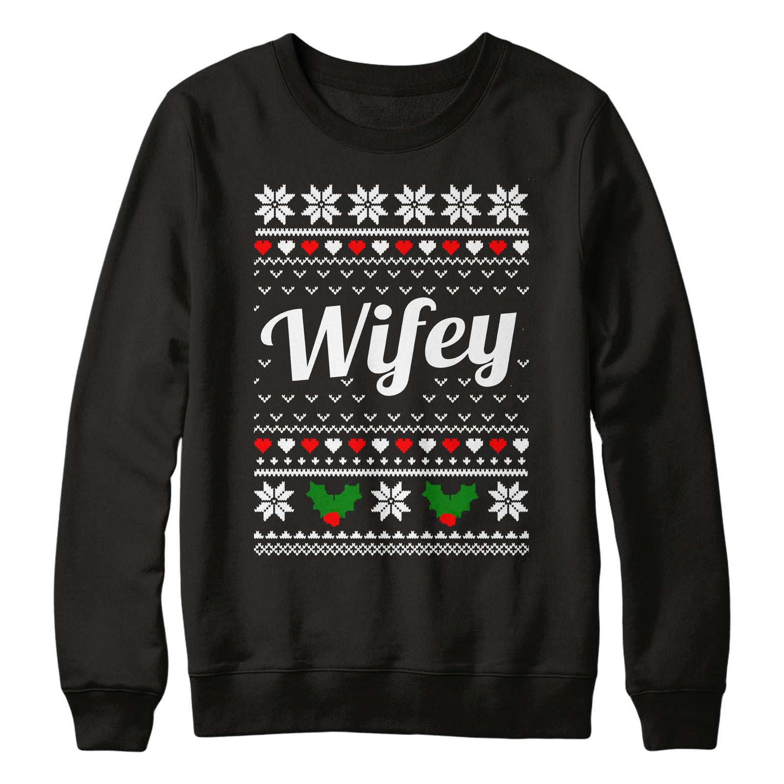 Hubby \u0026 Wifey Christmas Jumpers Sweaters Unisex Just Married
