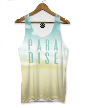 Summer Paradise Mens VEST Top Holiday Shirt Palm tree Tank Tropical Singlet 173