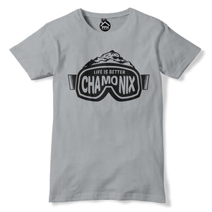 Ski Goggles France Chamonix Mountain Snowboard T Shirt Skiing Holiday Tshirt 200
