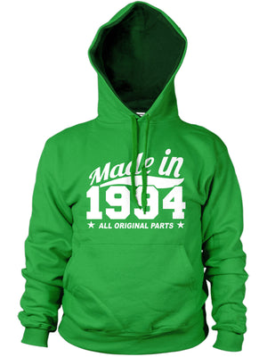 MADE IN 1994 ALL ORIGINAL PARTS HOODIE MENS WOMENS GIFT BIRTHDAY FUNNY PRESENT