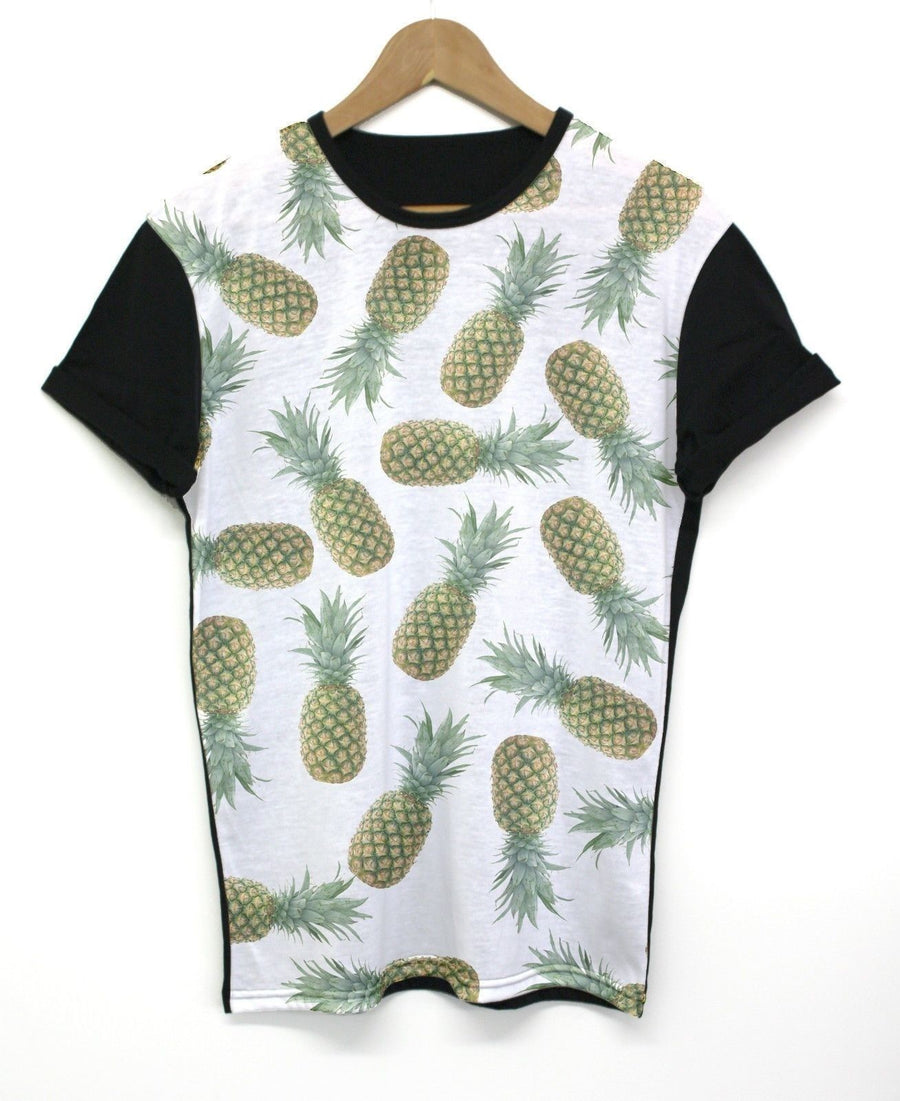 Small Pineapple Black All Over T Shirt Top Tee Swag Fruit Pattern Watermelon