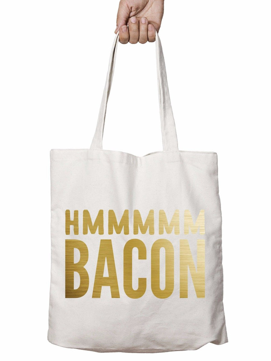 Hmmm Bacon Funny Shopper Tote Bag Party Pig Love Shop Christmas Shopping T16