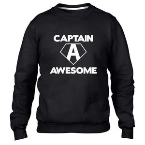 Captain Awesome Funny Mens Sweatshirt America Kids Sweat Superhero