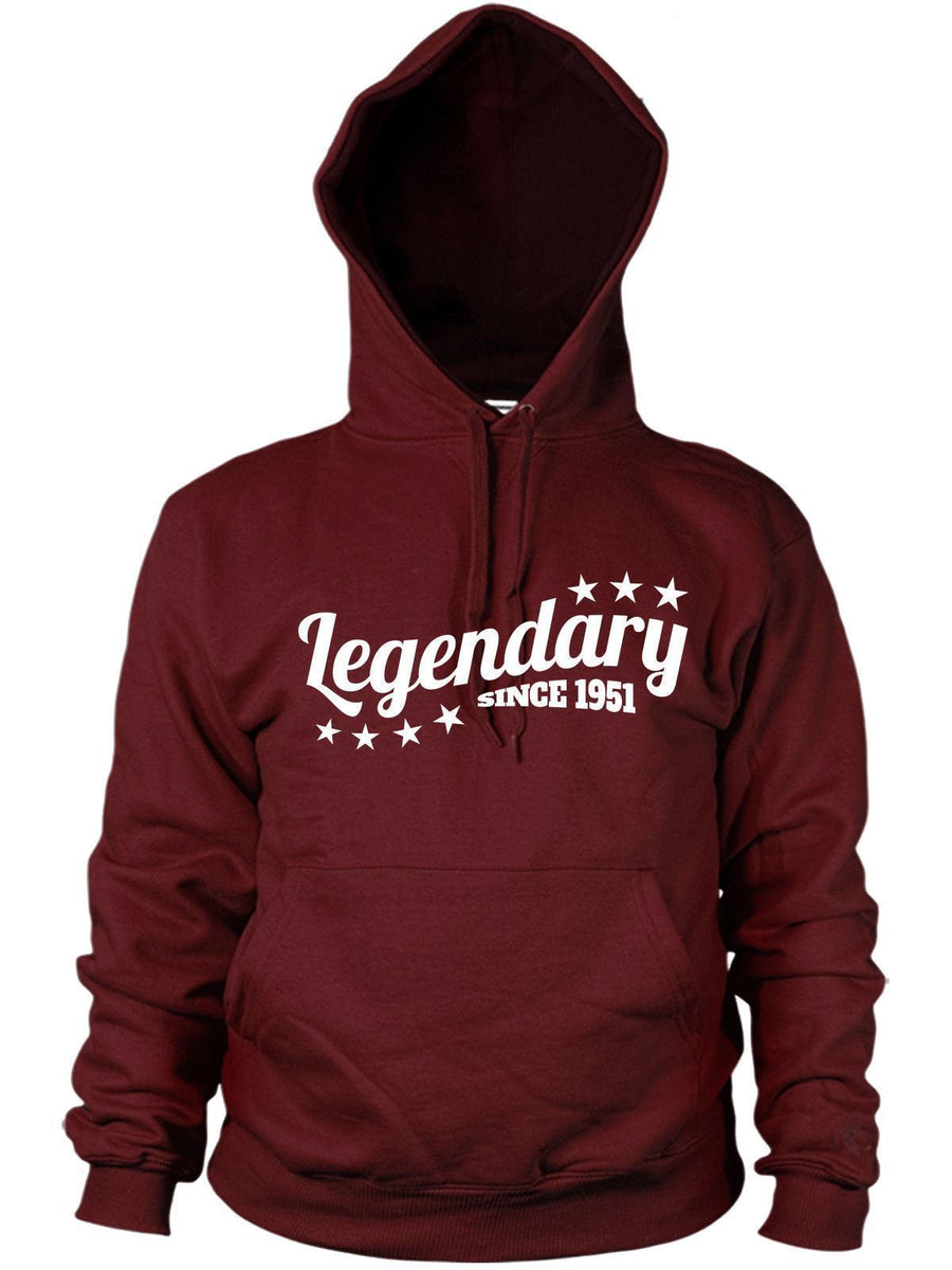 Legendary Since 1951 Hoodie Gift Birthday Present 65 66 years old Mens Women Dad