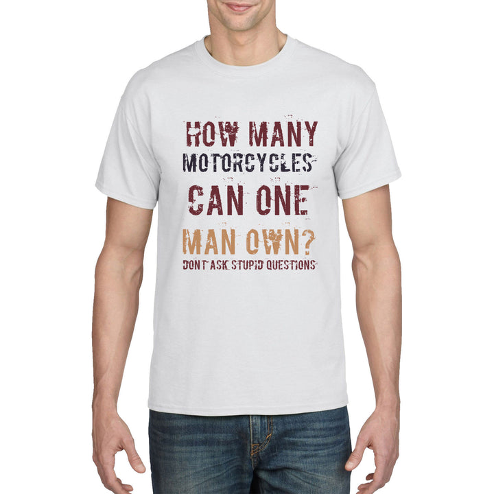 Motorcycle T Shirt How Many Can One Man have Funny Birthday Gift Biker Dad 879