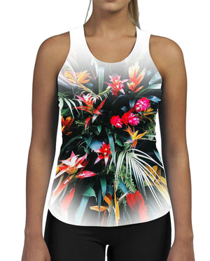 Tropic Flash WOMENS GYM TANK Vest Workout Squat Fitness Wear Brand UK Flower