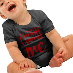 Cuddle Me Baby Grow Cute Romper Suit Valentines Day Gift Funny Boys Shower B51