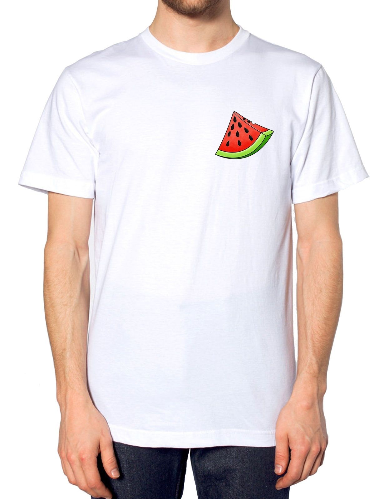 151ee80e8 Product image 1 Watermelon Logo T Shirt Summer Fashion Fruit Healthy Tumblr  Indie Style Mens Kid