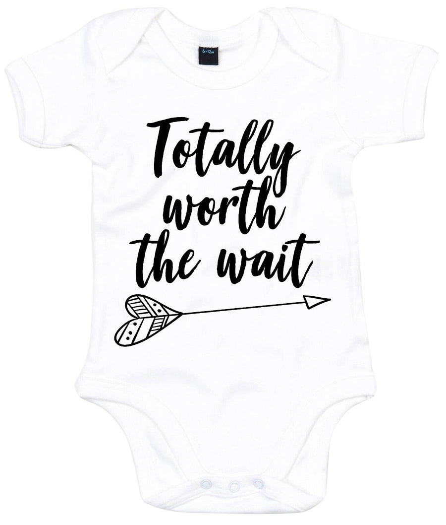 Totally Worth The Wait Babygrow Cute Adorable Gift Baby Gift Arrival IVF AS15