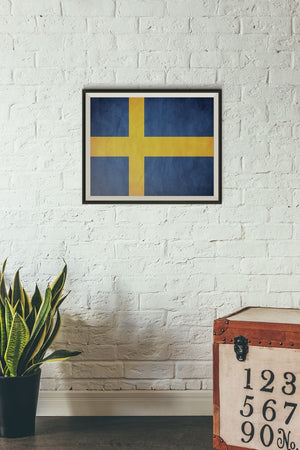 Sweden Poster Print Stockholm Photo Framed and Mounted Picture World Flag PP137