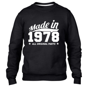 MADE IN 1978 ALL ORIGINAL PARTS SWEATER MENS WOMENS FAMILY FUNNY BIRTHDAY GIFT