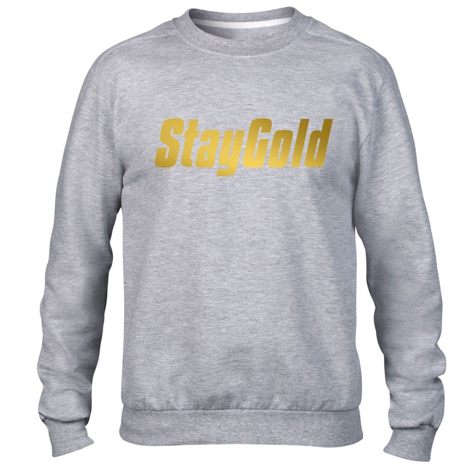 Stay Gold Hipster Swag Hoody GOLD PRINT Mens Hoodie Womens Dope Jumper Top