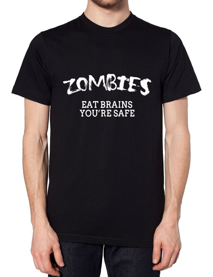 Zombies Eat Brains Your OK Funny Mens Dead Tshirt Walking t Shirt Womens Top, Main Colour Black