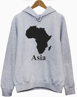 AFRICA ASIA HOODIE HOODY FUNNY PARODY MAP MEN WOMEN KIDS OUTLINE