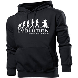 Ballroom Dancing Evolution Hoodie Men Women Kids Music Club Salsa Dress Show, Main Colour Black