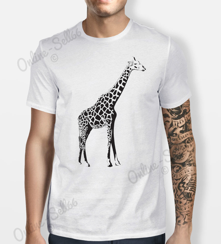 Giraffe Tshirt Mens Womens T Shirt Tee Cool Swag Top Hipster Skate Indie Animal