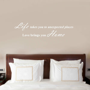 Life Takes You Places Love Brings You Home Vinyl Wall Sticker Decals Decor Quote
