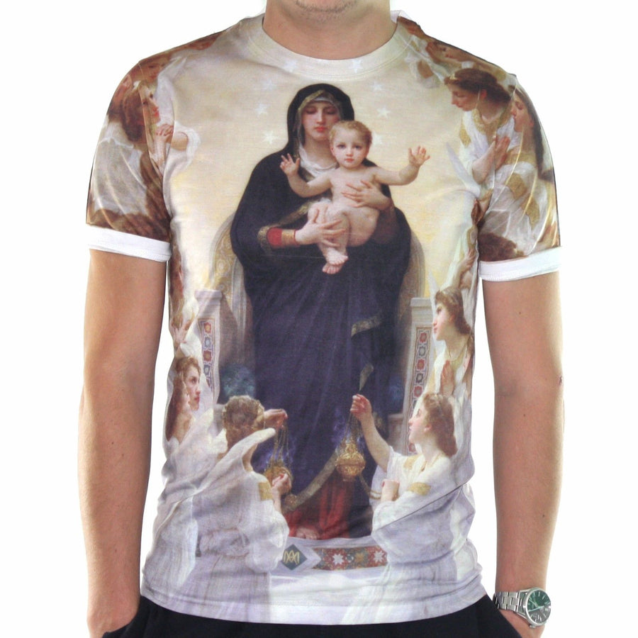 Blessed Mary Holding Jesus T shirt Religious Christian Top All Over Print Men