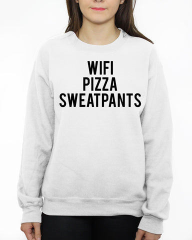 Image of WIFI PIZZA SWEATPANTS SWEATER MENS WOMENS KIDS SLOGAN FUNNY DOPE HIPSTER SWAG