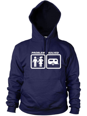 Caravaning Problem Solved Hoodie Funny Present Women Men Hoody Vacation Holiday
