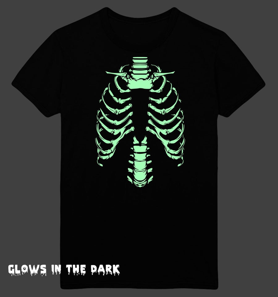 Halloween T Shirt Skeleton Body Glow In The Dark Men Women Kids Costume Outfit