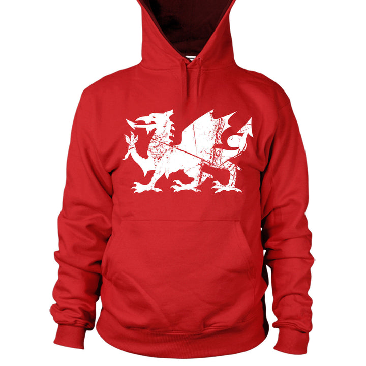 Welsh Dragon Rugby Hoodie Funny Wales Football Print Men 6 Nations Flag Top L10