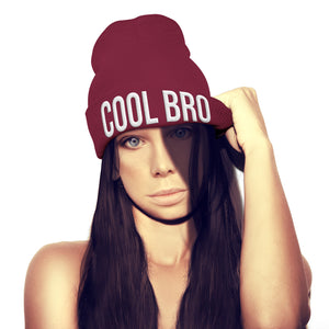 Cool Bro Beanie Hat Embroidery Hipster Winter Fashion Womens Girls Mens beenie