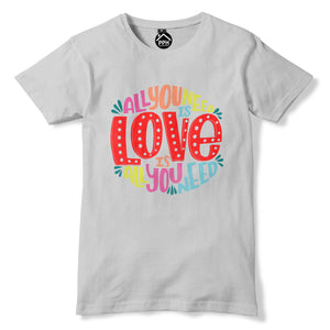 All You Need Is Love Music T Shirt Bible Quote Song Lyric Top Mens Womens 390