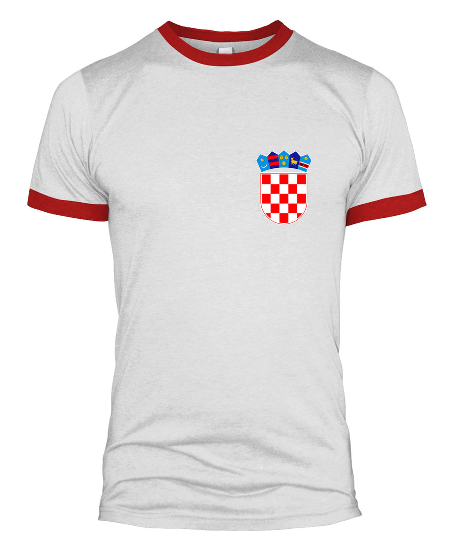 Croatian Retro Football T Shirt Kit World Cup 2018 Badge Men Women Kids Top L254