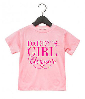Daddy's Girl PERSONALISED NAME T Shirt Toddler Top Baby Father's Day Gift AS5