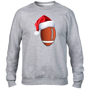 American Football Christmas Santa Hat Sweater Winter Sport Funny Gift Novelty