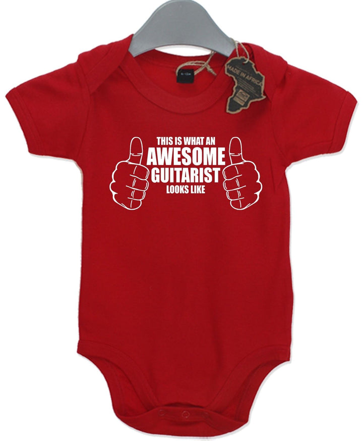 Awesome Guitarist Gift Baby Grow Music Band Boy Girl Unisex Present Play Suit