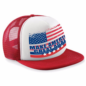 US Vintage Flag Make America Great Again Trucker Snapback Baseball Cap Trump 472