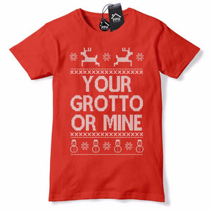 Your Grotto or Mine Fair Isle Christmas T Shirt Gift Top Mens Shop Womens CH1