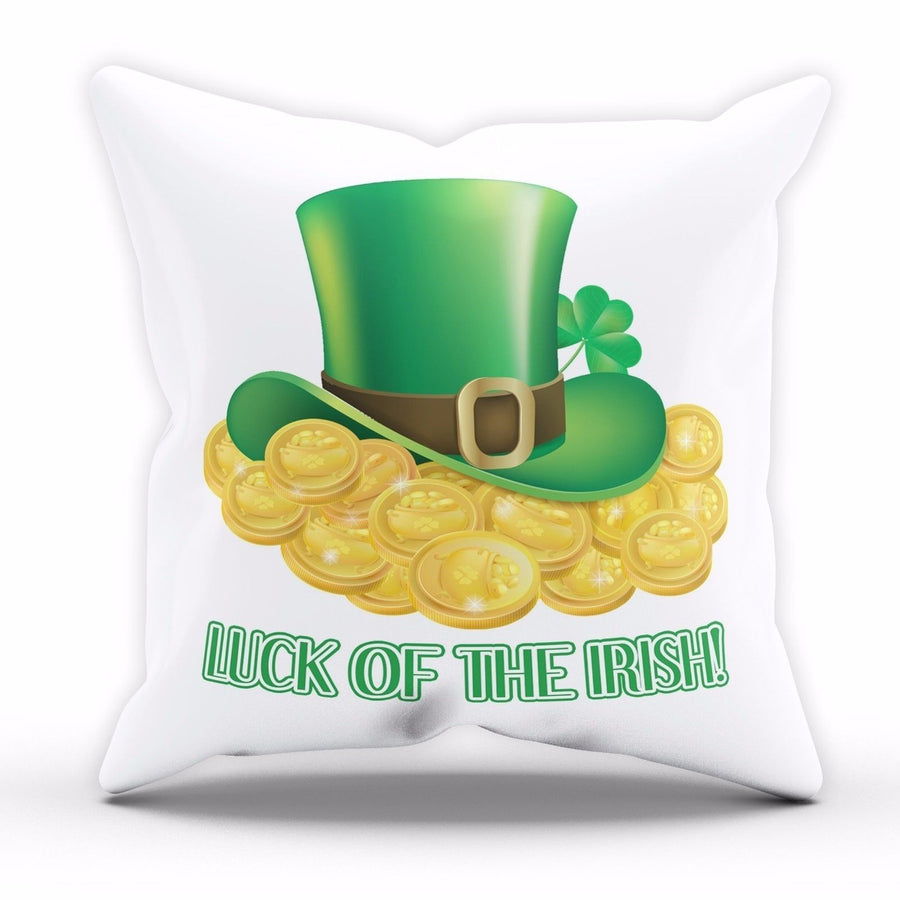 Luck of the Irish St Patricks Day Cushion Ireland Pillow Home Bedroom Sofa P2