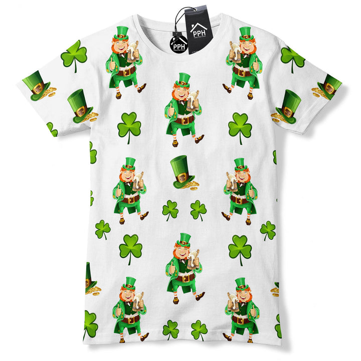 St Patricks Day ALL OVER PRINT Ireland Shamrock Irish Tshirt  T shirt Tshirt P5