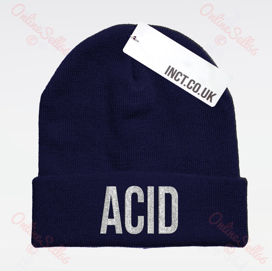Acid Knitted Woolly Swag Winter Mens Indie Beanie Cool Beenie Cap Hat Hipster
